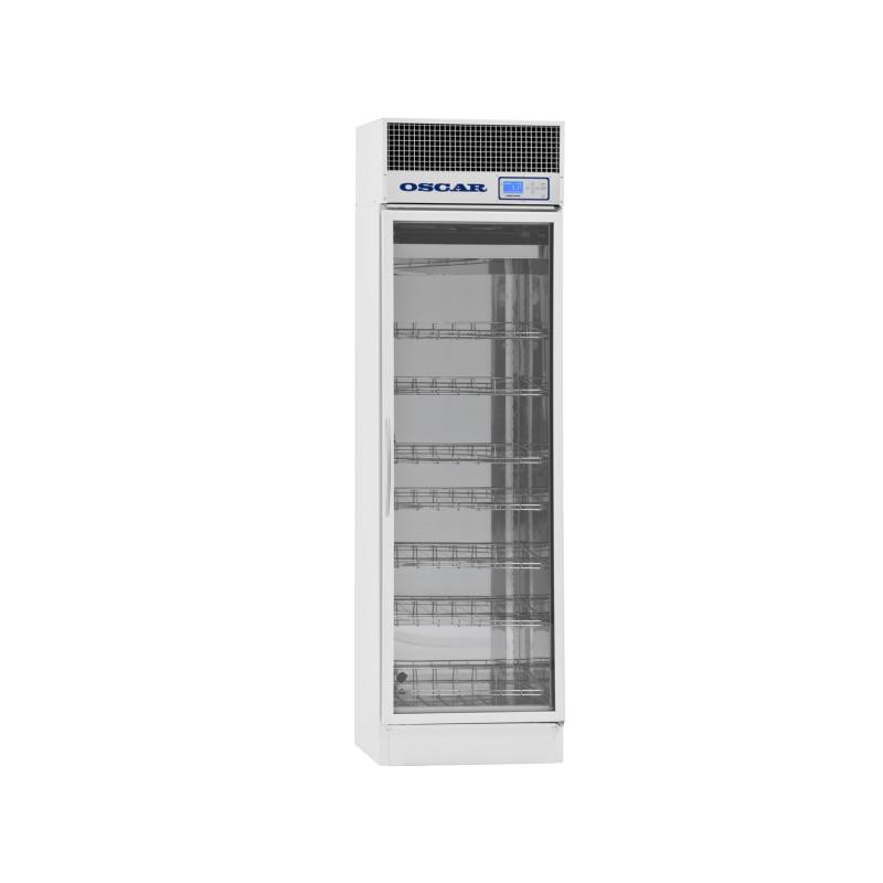 Refrigerated pharmacy cabinet AX-400, glass door, 400 litres