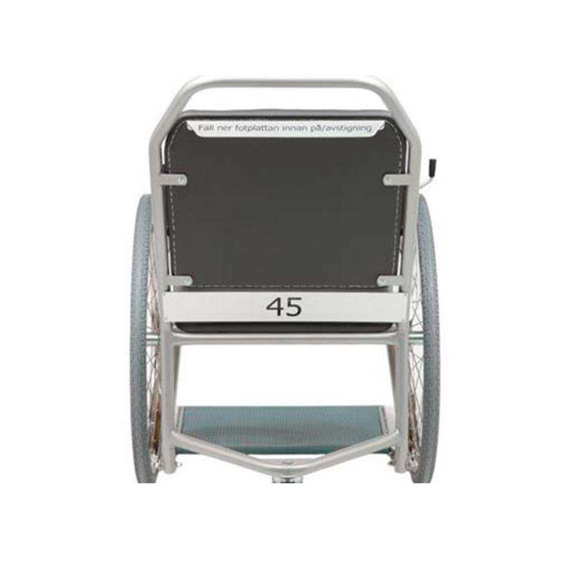 Rating plate for wheelchair