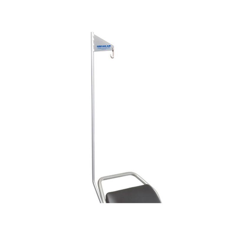 Flagpole for wheelchair