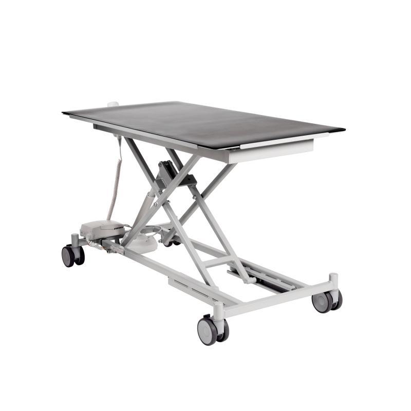 Undersökningsbord djur 810, elektrisk med fyra låsbara hjul